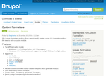Custom Formatters on Drupal.org